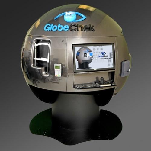 Up-Rev design, electrical engineering, and software development made GlobeChek eye screening machine possible.